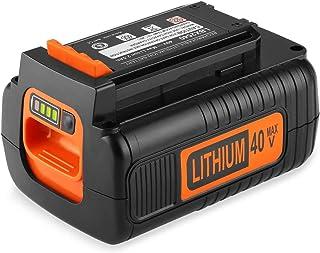YTPowerPal 3.0Ah LBX2040 Replacement Black and Decker 40V Lithium Battery LBXR36 LBXR2036 LST540 LCS1240 LBX1540 LST136W 40 Volt Max Black and Decker Battery