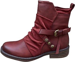DAIFINEY Dames winterlaarzen retro korte schacht laarzen enkellaars hoge halve laarzen laarzen laarzen bootie instaplaarze...
