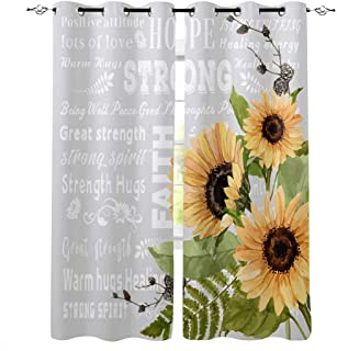 Home Living Curtains Window Treatments Sunflowers Daisy Floral Panels Or Valance Nursery Bedroom Blackout Cotton You Pick