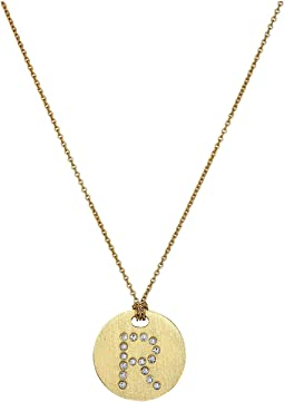 Tiny Treasures 18K Yellow Gold Initial R Pendant Necklace