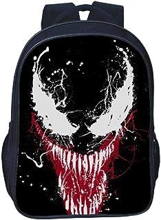 Bag Set Mochila para Niños Mochilas Escolares Impresas En 3D De Doble Capa para Niños Escuela Primaria De Venom Mochila De 16 Pulgadas Guardián Mortal H