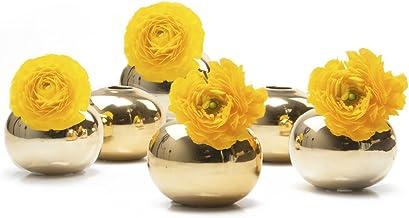 Chive – Set of 6 JoJo Small Oval Ceramic Flower Vase, Decorative Modern Floral Vase..