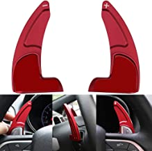 Steering Wheel Extended Shift Paddle For Jeep Grand Cherokee 2014-Up Shifter Extensions Covers Trim Aluminum (Matt Red)