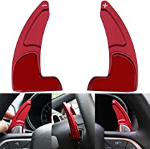 Steering Wheel Shift Paddle Extended Shifter Trim Cover For Jeep Grand Cherokee 2014+ Aluminum Alloy Body (Matt Red)