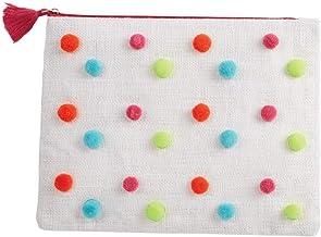 Women's Resort 9x12in Confetti Jute Carryall Case 86200010 (White)