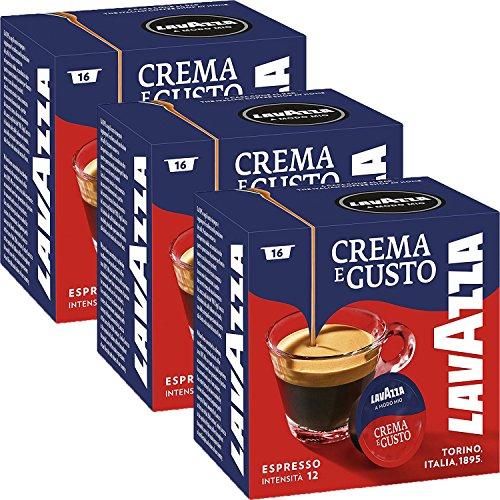 Lavazza A Modo Mio Espresso Crema E Gusto 16 Kapseln, 3er Pack (3 x 120 g)