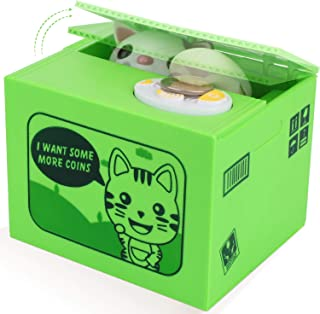 5dfd2c896 Peradix Money Coin Bank Automatic Stealing Coins Piggy Bank Penny Cents  Saving Box Toy Cute Cat
