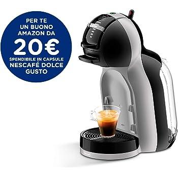 NESCAFÉ  De'Longhi EDG 155.BG Dolce Gusto Mini Me Kapsel Kaffeemaschine (für heiße und kalte Getränke, 15 bar Pumpendruck, 0,8l Wassertank) black / arctic Grey