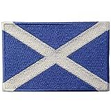 スコットランド 国旗 紋章 スコティッシュ アップリケ 刺繍入りアイロン貼り付け/縫い付けワッペン