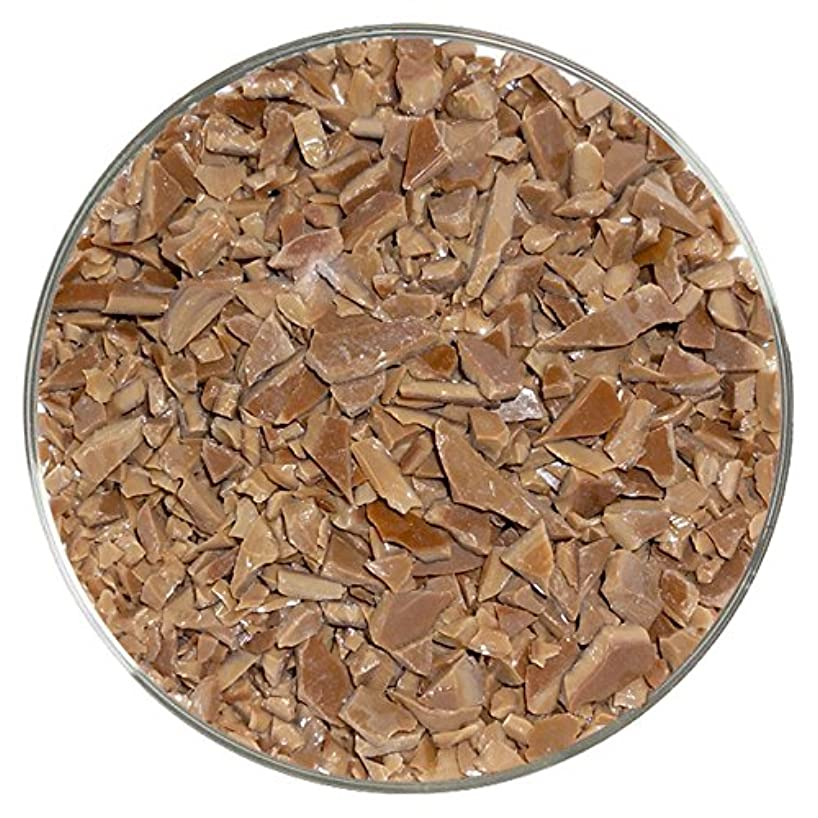 Chestnut Brown Opalescent Fusible Glass Coarse Frit - New Larger 8oz Size - 96COE - Made from System 96 Glass