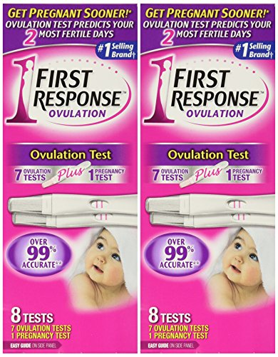 First Response Ovulation 7 Ovulation Test Plus 1 Pregnancy Test (2 Pack)