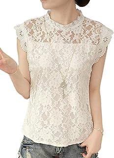 [ラルジュアルブル] ブラウス シースルー レディース 花柄 刺繍 半袖 トップス シャツ レース きれいめ
