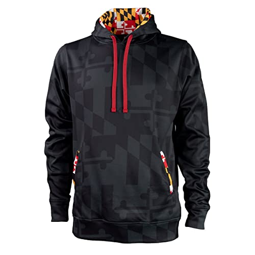 ee753268fe Maryland Flag Souvenir Gift Hoody with Front Kangaroo Pockets and Hidden  Media Player Pocket