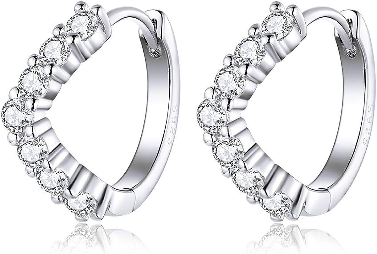 Small Hoop Fashion Earrings for Women Sterling Hypoallergen Purchase Girls Silver