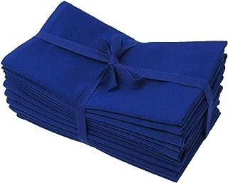 Aunti Em's Kitchen Blue Cotton Dinner Napkins Cloth 12 Pack 20x20 100% Natural Oversized Bulk Linens for Dinner, Events, Weddings, Set of 12, Navy Blue