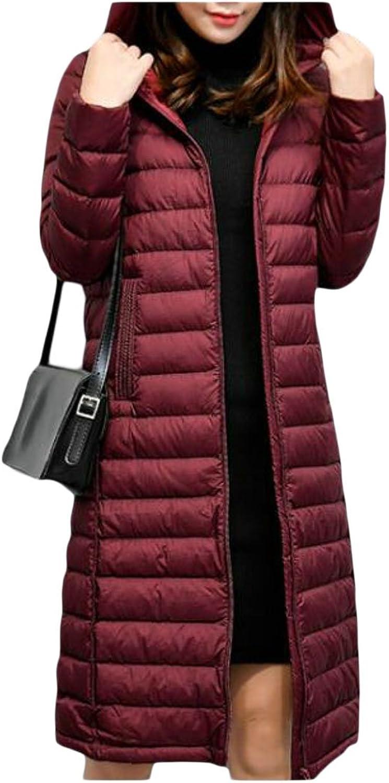 KLJRWomen Lightweight WaterResistant Long Sleeve Packable Down Coat