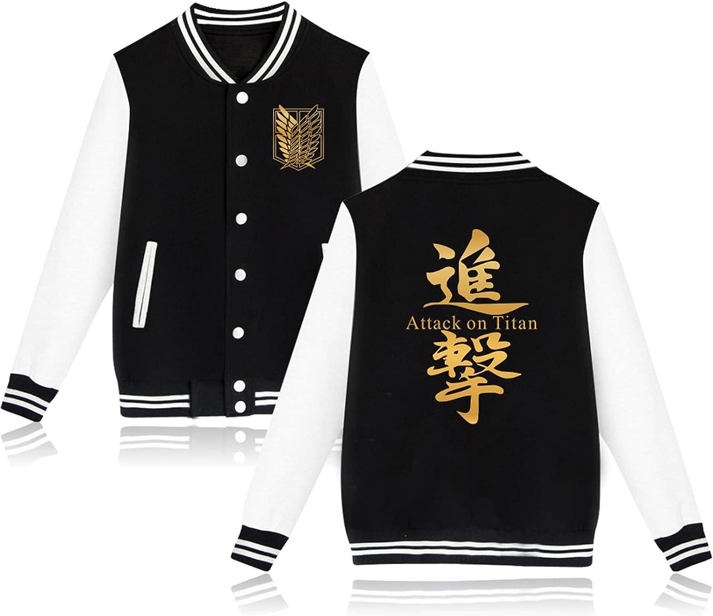 SIAOMA Anime Attack On Titan Baseball Jacket Uniform Unisex Varsity Jacket