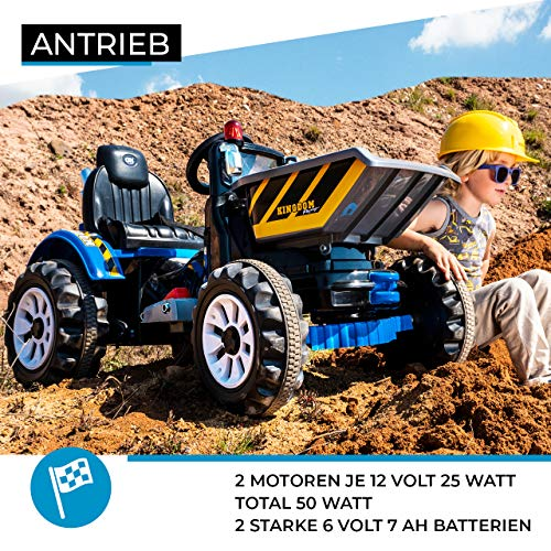 RC Auto kaufen Kinderauto Bild 2: Actionbikes Motors Kinder Radlader JS328C 2 x 25 Watt Motor Elektro Lader Kinderauto Kinderfahrzeug Spielzeug für Kinder Kinderspielzeug (Grün)*