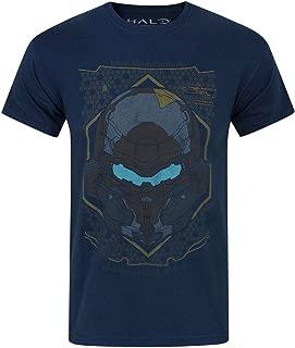 Official Halo 5 Locke HUD Helmet Men's T-Shirt (L) Blue