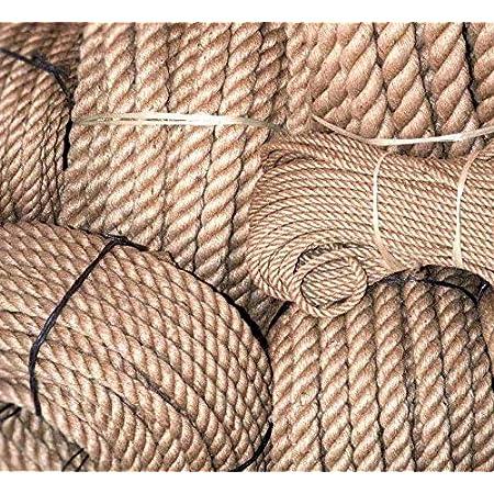 Amarillo Envolver Regalos Cuerda de Yute Gruesa decoraci/ón del hogar y jard/ín 50 m Cuerda de Yute Natural de 2 mm Almabner Cuerda de Cuerda para Obras de Arte Tama/ño Libre Manualidades