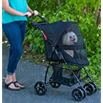 Pet Gear Happy Trails Pet Stroller for Cats/Dogs, Easy Fold with Removable Liner, Storage Basket (PG8030NZJGA) 11