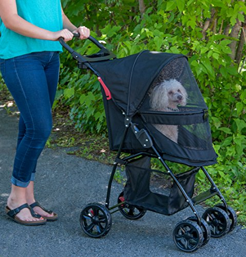 Pet Gear Happy Trails Pet Stroller for Cats/Dogs, Easy Fold with Removable Liner, Storage Basket (PG8030NZJGA) 5