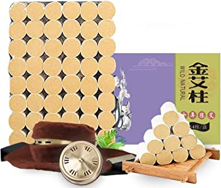 Pure Natural Wormwood Smokeless Moxa Purifier with Copper Tank 54 Rolls Sticks Pure Moxibustion Moxa,10-Years Purit...