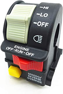 Handlebar Light Switch Fit for 2001-2005 Polaris Sportsman 4010591 Hi/Lo/OFF for ATV/Motorcycle/Snowmobile/or Watercraft Beam Light/Kill/Stop Switch