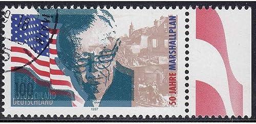 Goldhahn BRD Bund Nr. 1926 gestempelt Doppeldruck der Farbe blauGrün Briefmarken für Sammler
