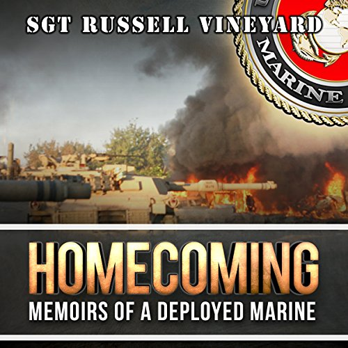 Homecoming     Memoirs of a Deployed Marine              By:                                                                                                                                 Russell Vineyard                               Narrated by:                                                                                                                                 John Alan Martinson Jr.,                                                                                        Phoenix T. Clark,                                                                                        Benjamin Descovich,                   and others                 Length: 5 hrs and 14 mins     19 ratings     Overall 4.9