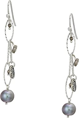 Pearl and Coin Earrings