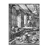Kunstdruck Poster - Albrecht Dürer Der heilige Hieronymus