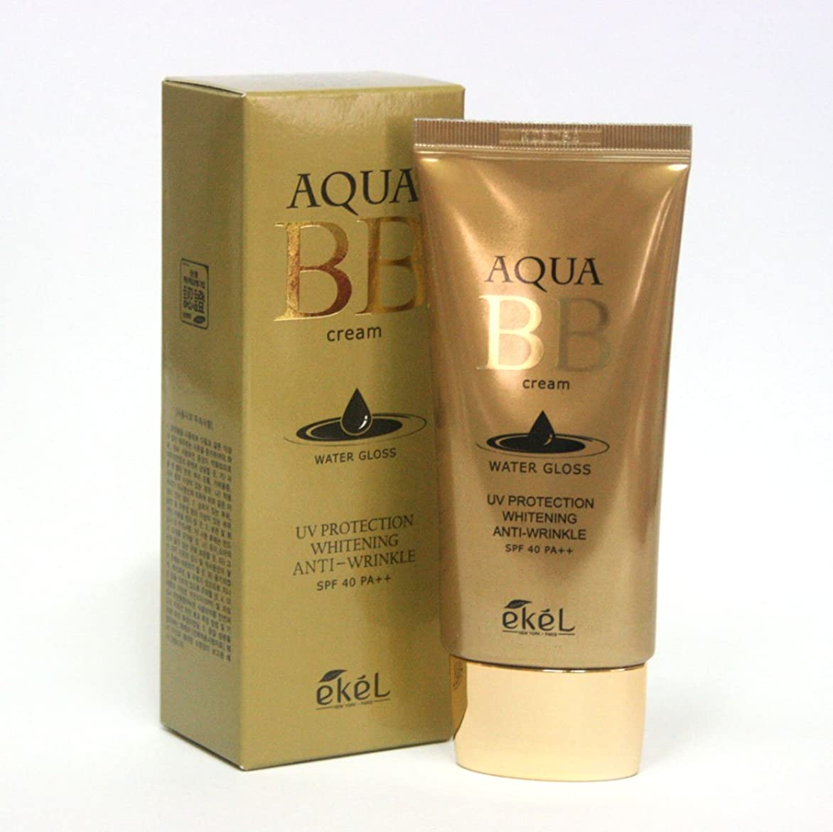 軽減するホイスト発症[Ekel] アクアBBウォーターグロスクリーム50ml / Aqua BB Water Gloss Cream 50ml / ワイトニングアンチリンクルSPF40 PA++ / Whitening Anti-wrinkle SPF40 PA++ / 韓国化粧品/Korea Cosmetics [並行輸入品]