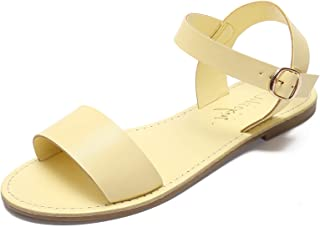 MACKIN J G388-2 Women's Flat Sandals Open Toe Flats Dress Sandals One Band Ankle Strap Buckle