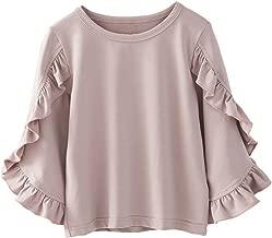 Colorful Childhood Little Girls Ruffle Bat T Shirt Autumn Princess Girl Blouses Spring Tops