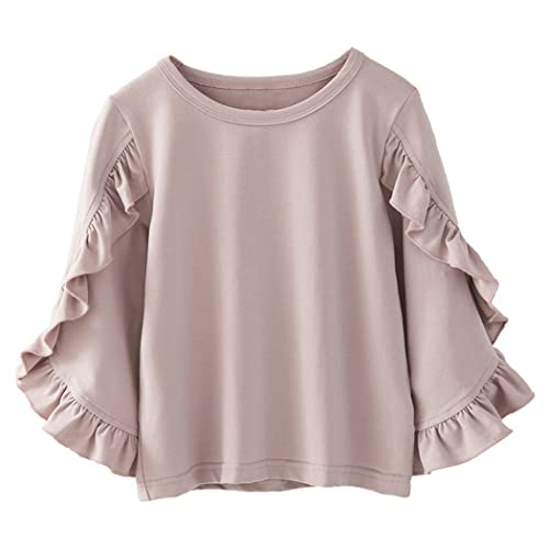 59ebe978 Colorful Childhood Little Girls Ruffle Bat T Shirt Autumn Princess Girl  Blouses Spring Tops
