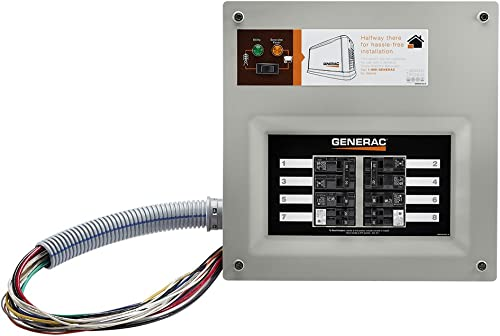 popular Generac 9854 HomeLink 50-Amp outlet online sale Indoor Pre-wired Upgradeable Manual Transfer lowest Switch for 10-16 circuits sale