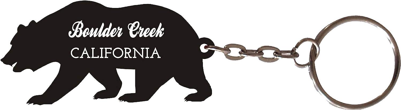 Boulder Creek California Souvenir Metal Bear Keychain