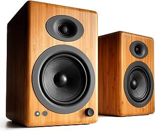 Audioengine A5+ 150 W Bezprzewodowe Głośniki Półkowe   Wbudowany Wzmacniacz Analogowy   Bluetooth aptX HD 24-bitowe DAC i ...