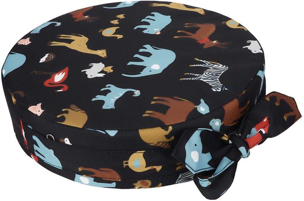 Marron Longzhou Baby Booster Seat Round Baby Dining Chair Rehausseur Pad Enfants Kid Anti-Slip Soft Sponge Cushion