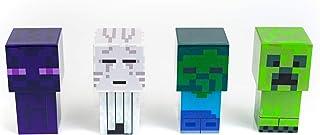 Robe Factory LLC Minecraft Mini Mob 4-Piece Figure Mood Light Set   Battery Operated LED Lights