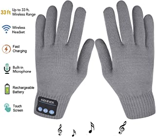 Bluetooth Gloves, Wireless Bluetooth Gloves, Winter Gloves Touch Screen with Built-in Stereo Speakers, Removable Headphones, Gifts for Thanksgiving&Christmas