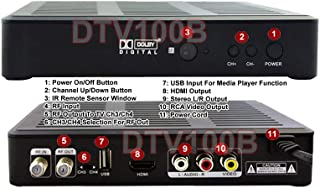 Digital 1080p HD DTV Tuner with EPG Timer Scheduled Recording + Closed Caption
