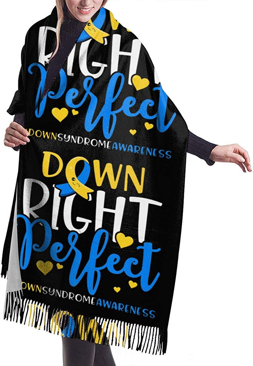 Down Syndrome Awareness Down Right Perfect Winter Scarf Cashmere Scarves Stylish Shawl Wraps Blanket