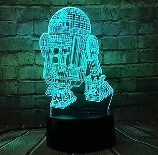 Luz de noche 3d interruptores de color múltiple Star Wars Lámpara Estrella de la Muerte Temática 3D llevó la lámpara se pueden utilizar en la que viven juguete del regalo del cabrito roomBaby mesa de