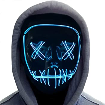 GLOW IN THE DARK FACE MASK BIG GLOW PARTY FACE MASK GREAT CHRISTMAS OFFICE PARTY