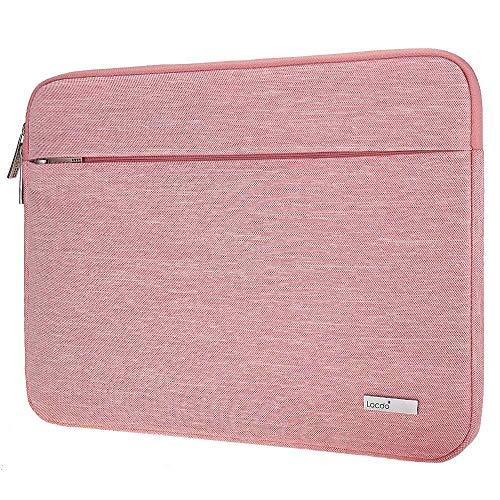 Lacdo 15.6 Inch Laptop Sleeve Computer Case for 15.6 Acer Aspire/Predator, Asus TUF FX505DT, Lenovo Ideapad 330, Dell Inspiron, ASUS ZenBook/VivoBook, HP Pavilion Chromebook Notebook Bag, Pink