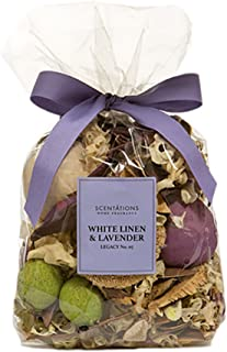 Scentations Potpourri - White Linen & Lavender Legacy No. 07, Scented, 8 oz Bag