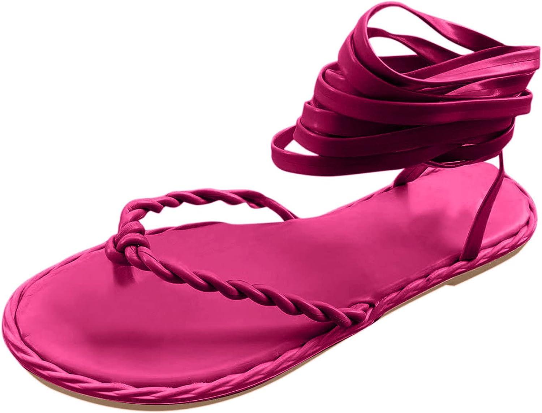 USYFAKGH Women'S Walking Flat Sandals Summer Shoes For Fashion R