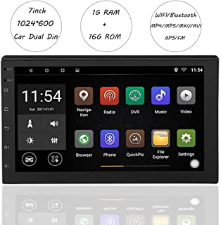 "Vbestlife Car Stereo Double DIN, Pantalla Táctil de 7"" 1GB RAM + 16GB ROM Android 8.1 Auto Audio Video HD Vehículo Radio FM MP5 Reproductor de MP3 Soporte WiFi, Bluetooth, Navegación GPS, USB"